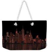 Chicago City Dusk Weekender Tote Bag