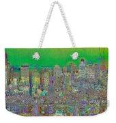 City Garden In Green Weekender Tote Bag