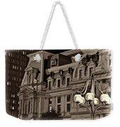 City Hall At Night Closeup Weekender Tote Bag
