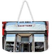City Hall Courtyard Weekender Tote Bag