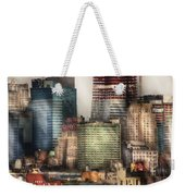 City - Hoboken Nj - New York Skyscrapers Weekender Tote Bag