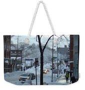 City In Snow Weekender Tote Bag