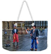 City Jugglers Weekender Tote Bag by Ron Shoshani