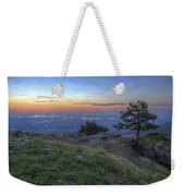 City Lights From Sunrise Point At Mt. Nebo - Arkansas Weekender Tote Bag