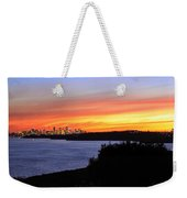 City Lights In The Sunset Weekender Tote Bag