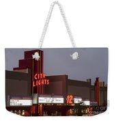 City Lights Marquee Weekender Tote Bag