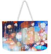 City Lights Urban Abstract Weekender Tote Bag