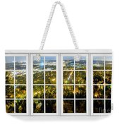 City Lights White Window Frame View Weekender Tote Bag