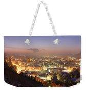 City Lit Up At Night, Esslingen Weekender Tote Bag