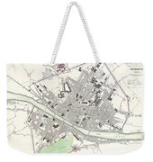 City Map Or Plan Of Florence Or Firenze Weekender Tote Bag