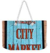 City Market Sign Weekender Tote Bag