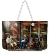City - New York - Greenwich Village - The Path Cafe  Weekender Tote Bag by Mike Savad