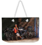 City - Ny - Waiting For The Next Delivery Weekender Tote Bag