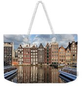 City Of Amsterdam At Sunset In Netherlands Weekender Tote Bag