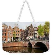 City Of Amsterdam In Holland Weekender Tote Bag