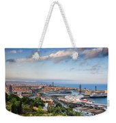 City Of Barcelona From Above At Sunset Weekender Tote Bag