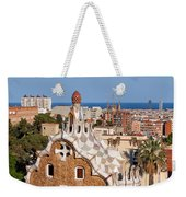 City Of Barcelona From Park Guell Weekender Tote Bag