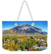 City Of Crested Butte Colorado Panorama   Weekender Tote Bag