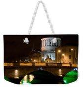 City Of Dublin At Night In Ireland Weekender Tote Bag