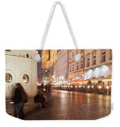 City Of Krakow By Night In Poland Weekender Tote Bag