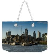 City Of London River Barges Wapping Weekender Tote Bag