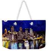 City Of Pittsburgh At The Point Weekender Tote Bag