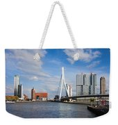City Of Rotterdam Cityscape In Netherlands Weekender Tote Bag