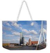 City Of Rotterdam From Erasmus Bridge Weekender Tote Bag