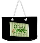 City Of Sparks Weekender Tote Bag