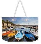 City Of Split Colorful Harbor View Weekender Tote Bag