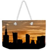 City Of Warsaw Skyline Silhouette Weekender Tote Bag