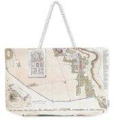 City Plan Or Map Of Pompeii Weekender Tote Bag