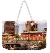 City - Providence Ri - The Skyline Weekender Tote Bag by Mike Savad