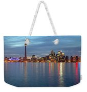 City Skyline At Dusk From Centre Weekender Tote Bag