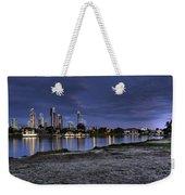 City Skyline At Night Weekender Tote Bag
