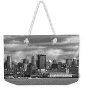 City - Skyline - Hoboken Nj - The Ever Changing Skyline - Bw Weekender Tote Bag