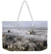 City Skyscrapers Above The Clouds Weekender Tote Bag