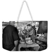 City - South Street Seaport - New Amsterdam Market - Apples And Mustard Weekender Tote Bag