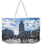 City Square In Stockholm Weekender Tote Bag