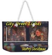 City Street Lights Weekender Tote Bag