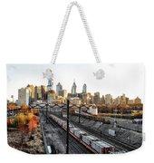 City Up The Tracks Weekender Tote Bag