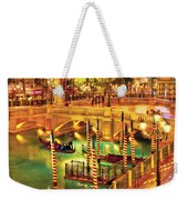 City - Vegas - Venetian - The Venetian At Night Weekender Tote Bag