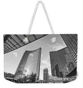 Citycenter - View Of The Vdara Hotel And Spa Located In Citycenter In Las Vegas  Weekender Tote Bag by Jamie Pham