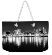 Cityscape In Black And White - Philadelphia Weekender Tote Bag