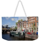 Cityscape Of Amsterdam Weekender Tote Bag