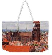 Cityscape Of Gdansk Weekender Tote Bag