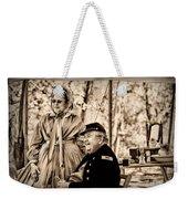 Civil War Officer And Wife Weekender Tote Bag