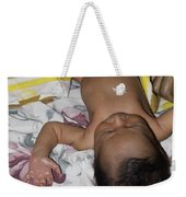 Clamp Tied To Umbilical Cord Of A 5 Day Old Indian Baby Boy Weekender Tote Bag