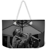 Clarinet Player In New Orleans Weekender Tote Bag by David Morefield