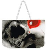 Clarity - Black And White Art Red Painting Weekender Tote Bag